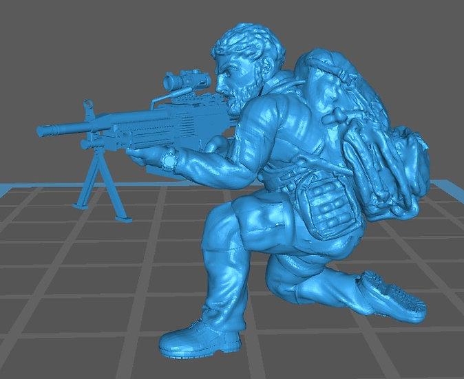 Force spéciale 3 tête nue et minimi (M429)