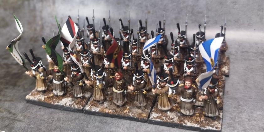 1812-1814 Grenadiers russes commandement 18mm soclage par 3