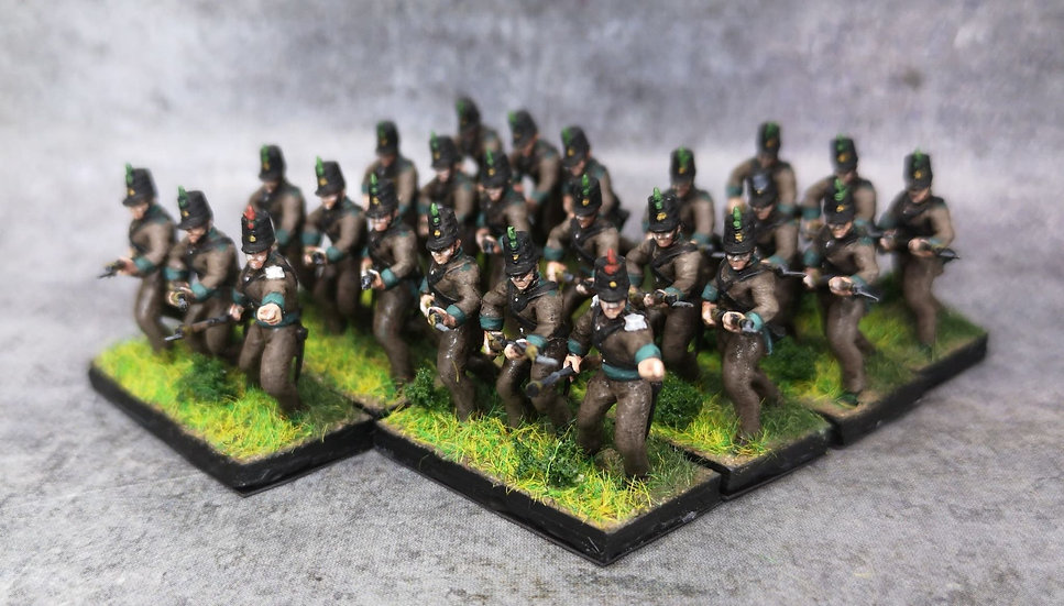 1808-1809 Cazadores 1 18mm soclage par 3
