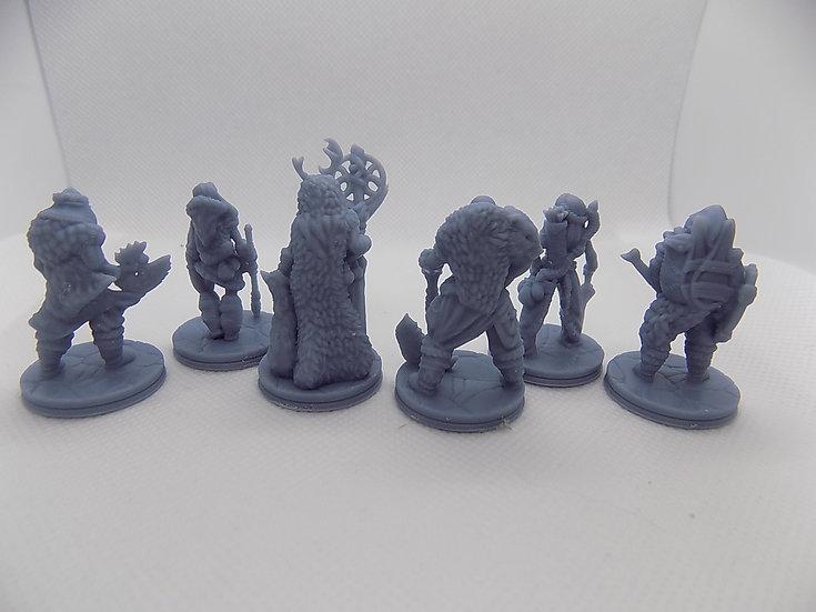 6 figurines de la tribu des glaces