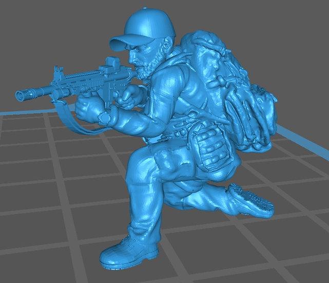 Force spéciale 3 avec casquette et HK416