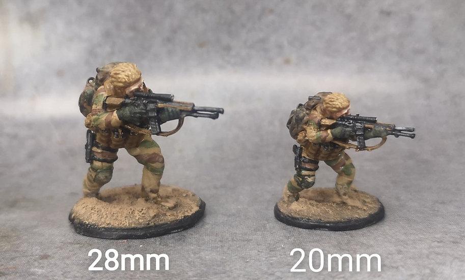Force spéciale 2 tête nue et HK417