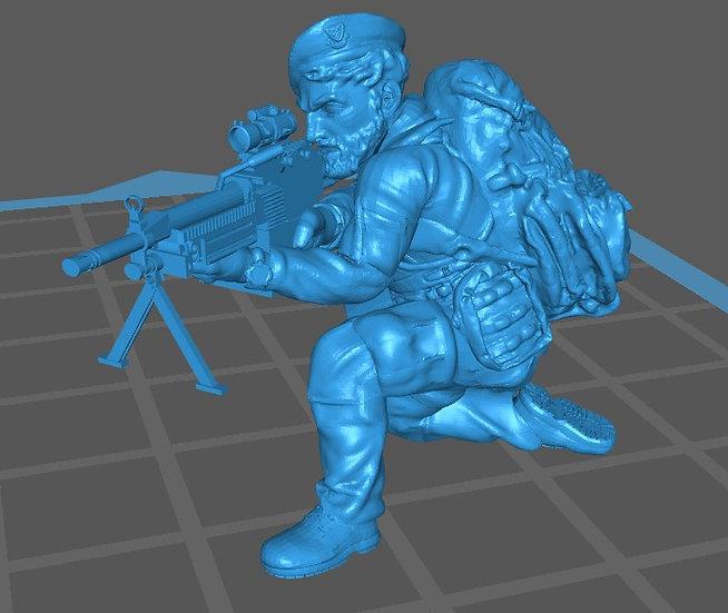 Force spéciale 3 avec bérêt et minimi (M429)