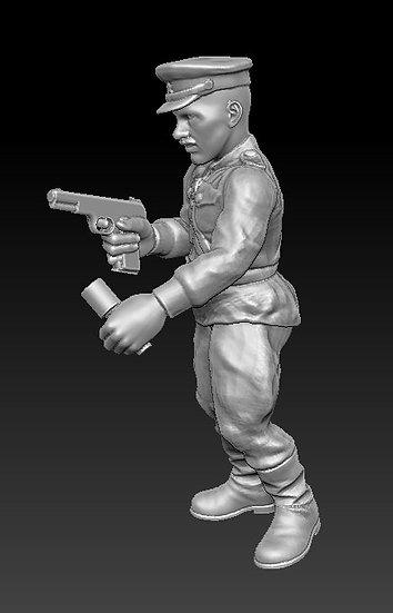 Officier russe avec grenade ww2