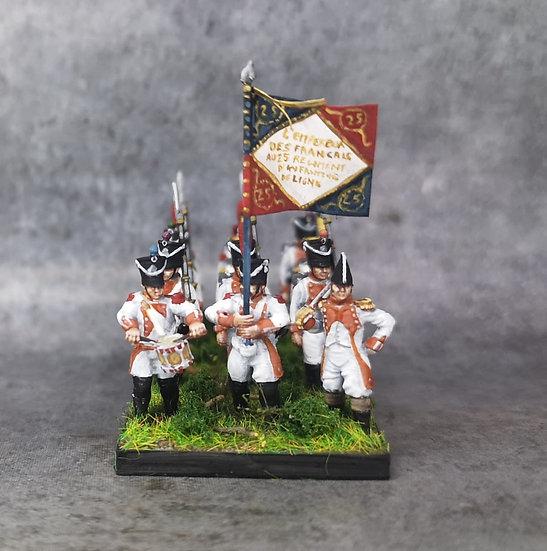 1808-1810 Infanterie de ligne française commandement 18mm soclage par 3