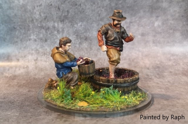 Set vignerons (vinemakers) 28 mm