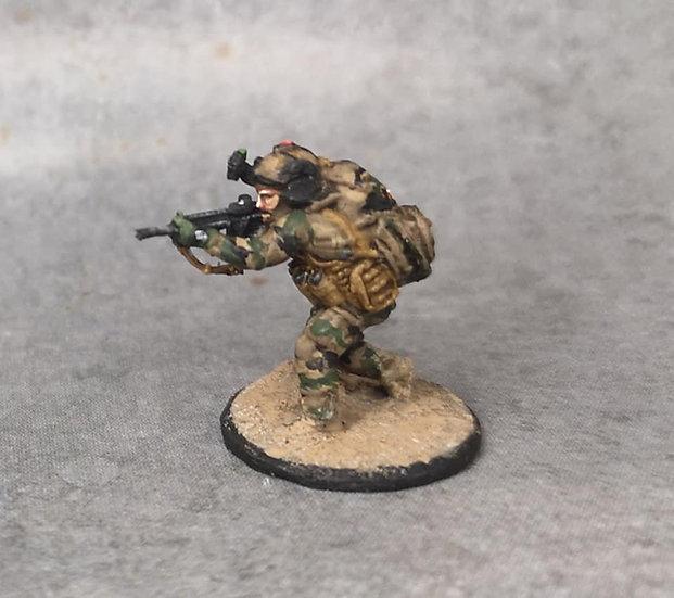 Force spéciale 8 avec casque et HK416