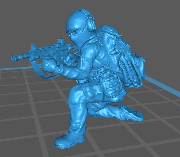 Force spéciale 3 avec cagoule et HK416