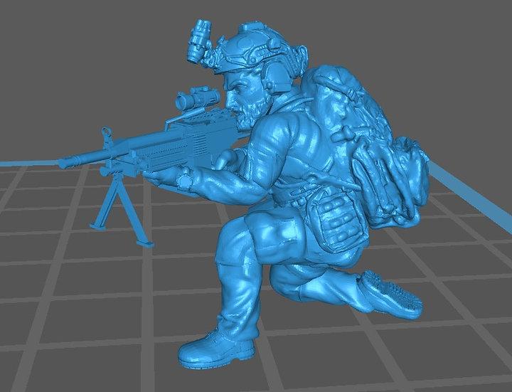 Force spéciale 3 avec casque et minimi (M429)