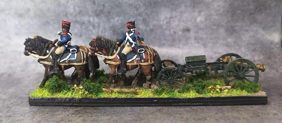 1808-1810 Train d'artillerie français 18mm (lot de 2)