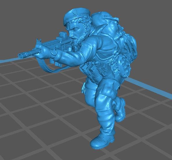 Force spéciale 8 avec bérêt et HK416