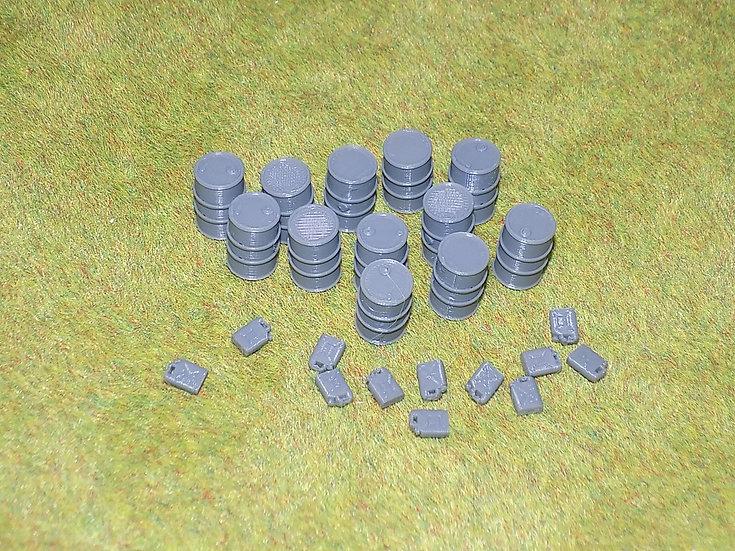 Set de Jerrycans et Futs en PLA