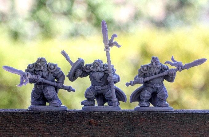 Set de 3 guerriers nains 2