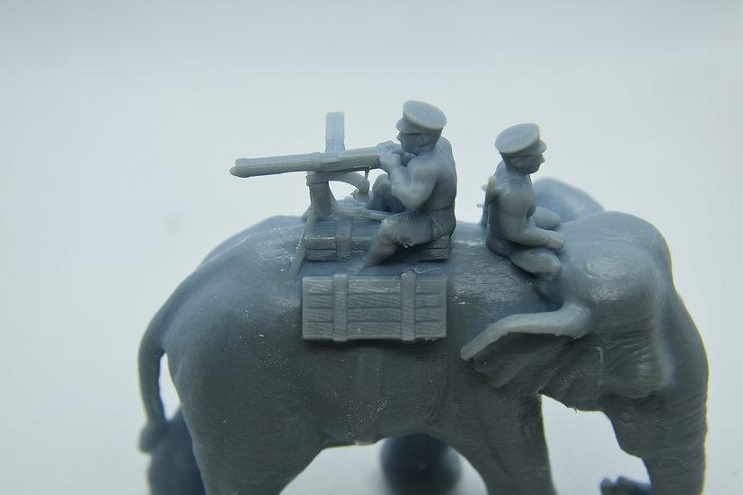 Eléphant de l'armée Thai avec vickers 1941