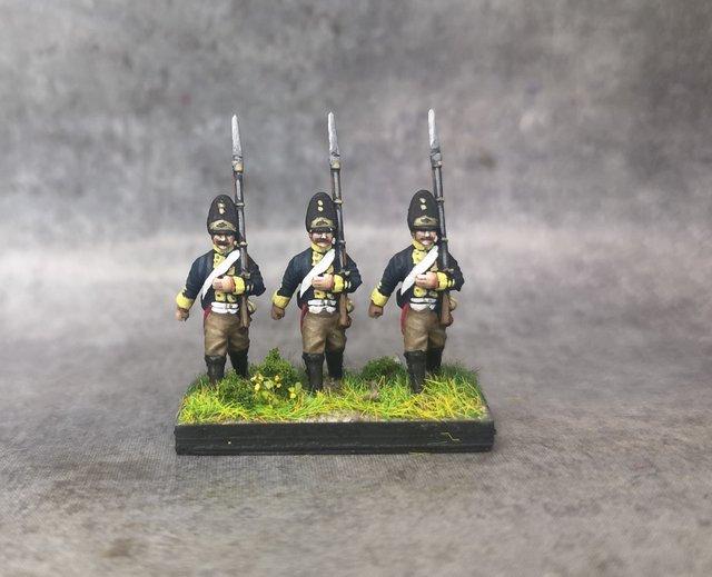 1806 Grenadiers prussiens 18mm soclage par 3