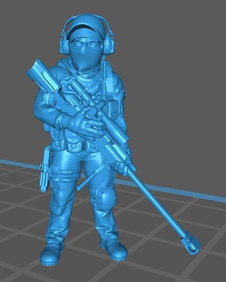 Force spéciale 1 avec casquette et PGM