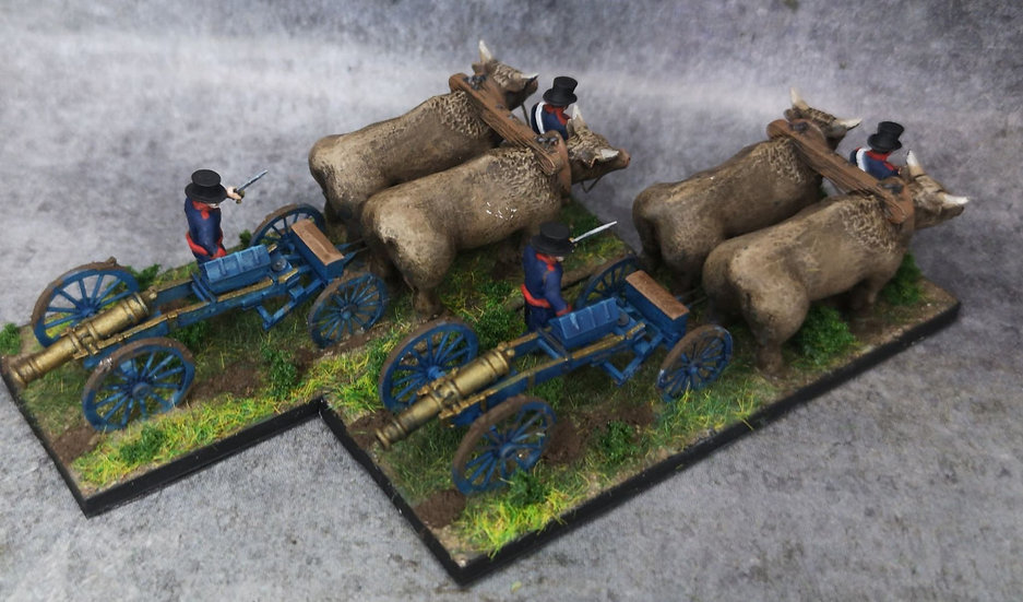 Train d'artillerie espagnol (lot de 2)