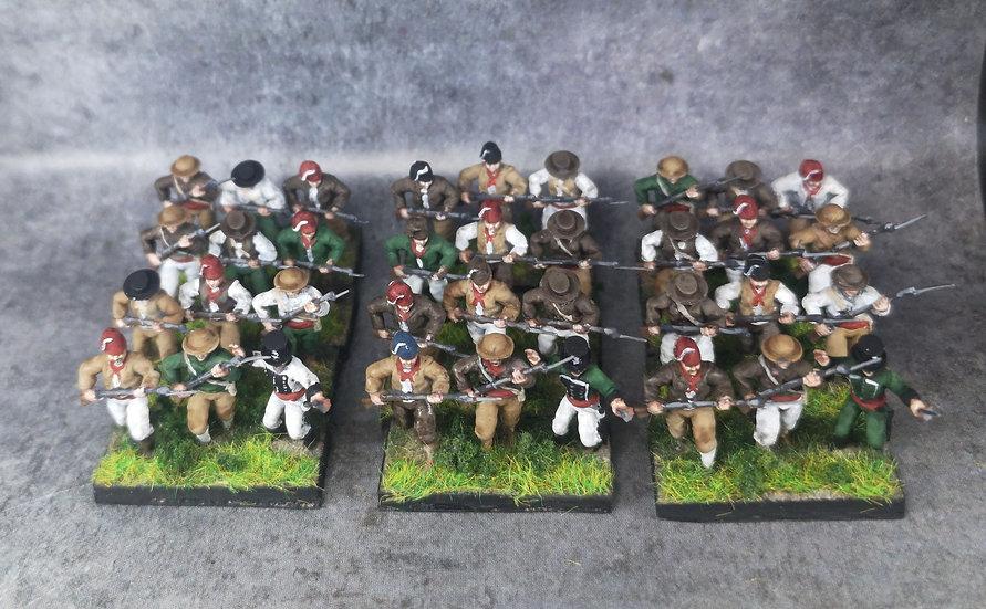 1808-1809 Guerilla espagnole commandement 18mm soclage par 3