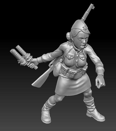 Femme Soldat russe no 06 ww2