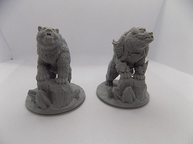 Figurines Ours 2 avec ou sans armure
