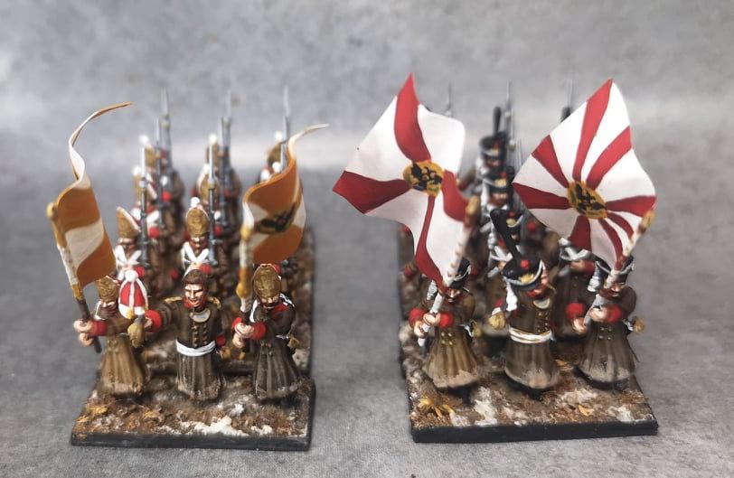 1812-1814 Grenadiers Pavlov russes  18mm soclage par 3
