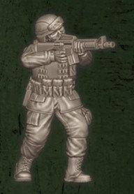 US soldat équipe Foxtrot 3