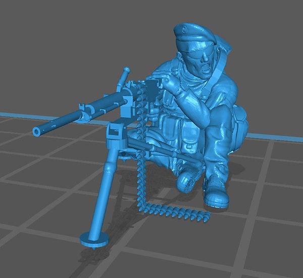 Français moderne 14 avec bérêt et mitrailleuse