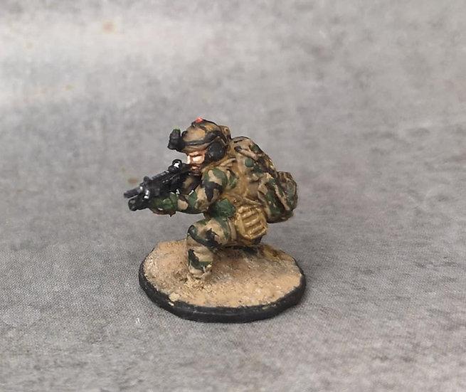Force spéciale 3 avec casque et HK416 lance grenade