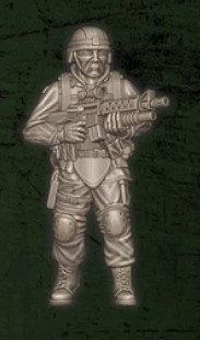 US soldat équipe Foxtrot 4