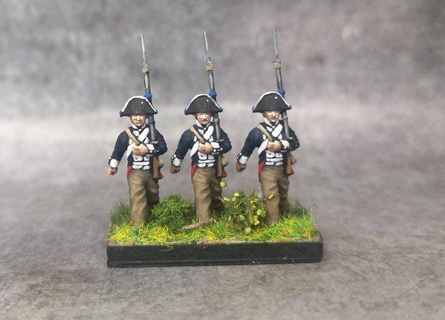 1806 Infanterie prussienne 18mm soclage par 3