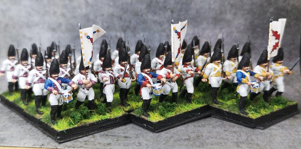 1808-1809 Grenadiers espagnols commandement 18mm soclage par 3