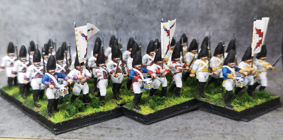 1808-1809 Grenadiers espagnols 18mm soclage par 3