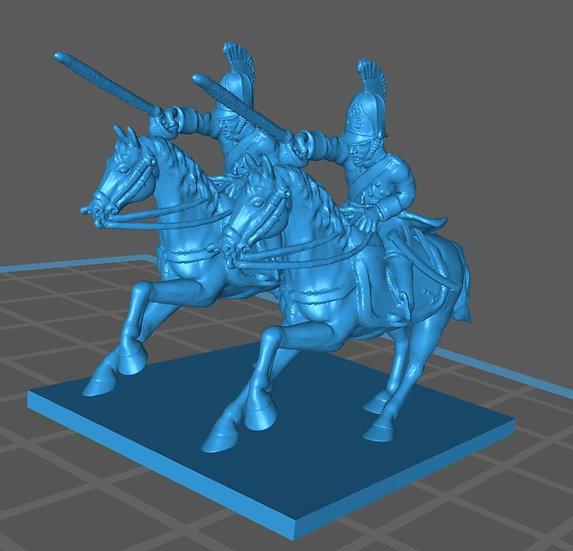 1812-1814 Dragons à cheval russes 18mm soclage par 2