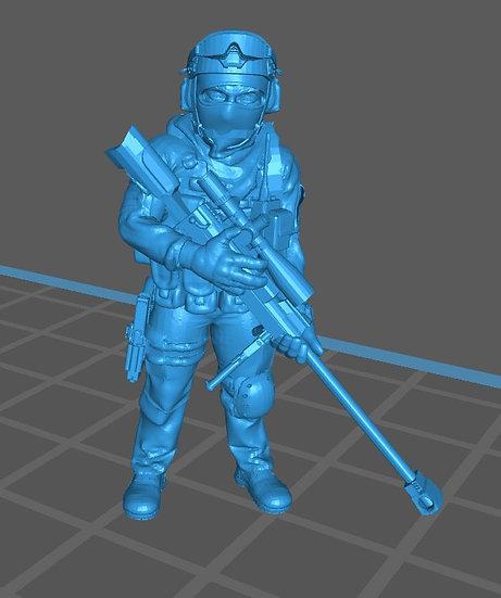 Force spéciale 1 avec casque et PGM