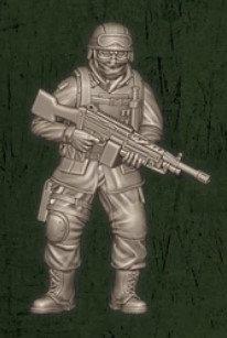 US soldat équipe Bravo 2