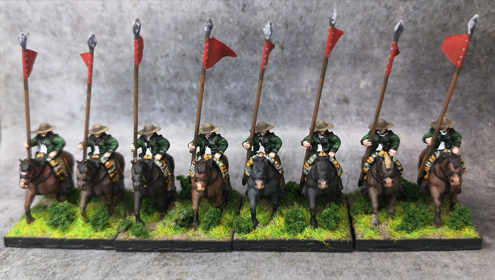 1808-1809 Lanciers espagnols 18mm soclage par 2