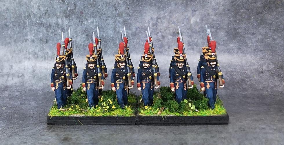 1808-1810 Marins de la garde française 18mm soclage par 3