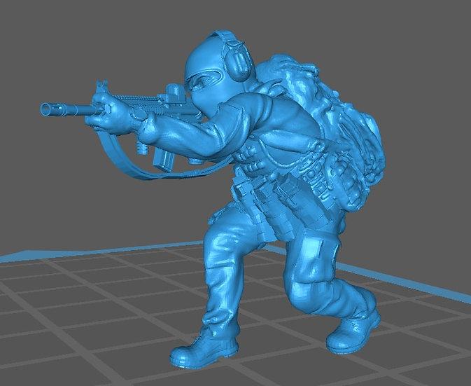 Force spéciale 6 avec cagoule et HK416