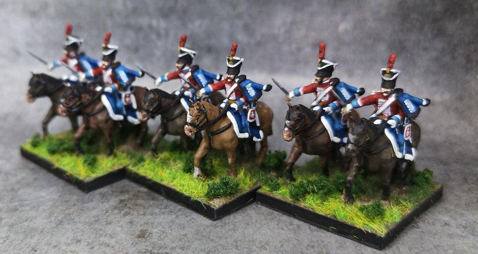 1808-1810 Hussards 18mm soclage par 2