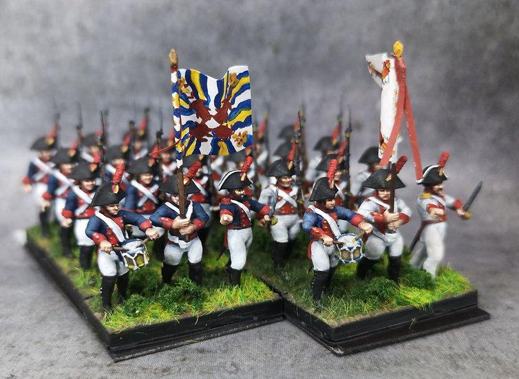 1808-1809 Infanterie de ligne espagnole commandement 18mm soclage par 3