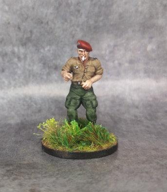 Officier français colonel Langlais