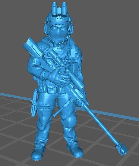 Force spéciale 1 avec casque JVN et PGM