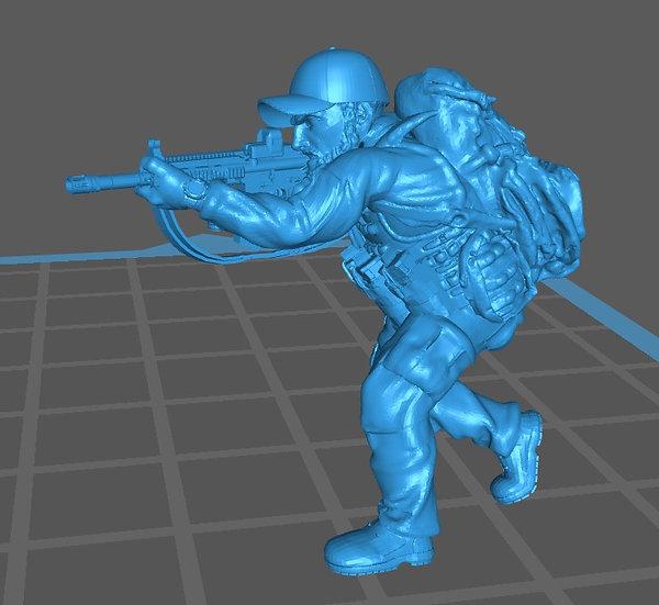 Force spéciale 8 avec casquette et HK416