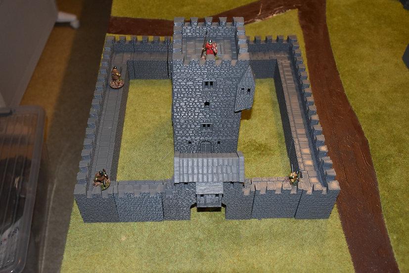 Mur d'angle de la towerhouse médiévale seul