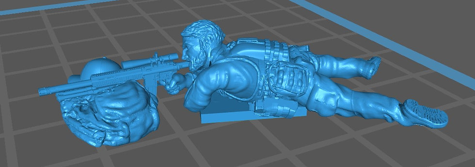 Force spéciale 5 tête nue et HK417