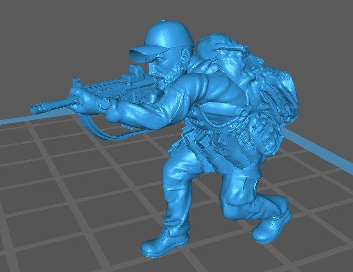 Force spéciale 6 avec casquette et HK416