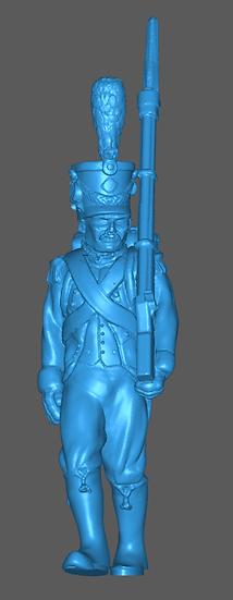 1808-1810 Infanterie légère française 2 18mm seul