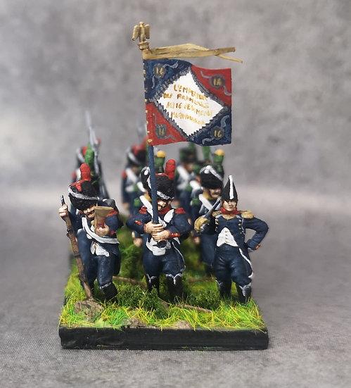 1808-1810 Infanterie légère française commandement 18mm soclage par 3