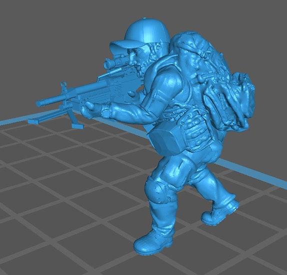 Force spéciale 2 avec casquette et minimi (M429)