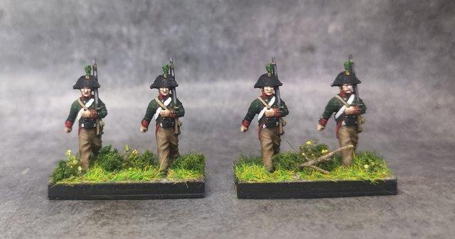 1806 Jäger prussiens 18mm soclage par 3